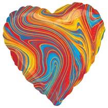 "Marblez Colourful Heart 18"" Foil Balloon"