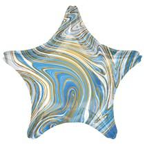 """Marblez Blue Star 18"""" Foil Balloon"""