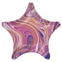 "Marblez Purple Star 18"" Foil Balloon"