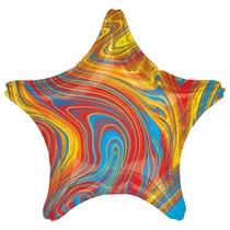 """Marblez Colourful Star 18"""" Foil Balloon"""