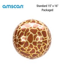 Giraffe Print Orbz Foil Balloon