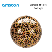 Leopard Print Orbz Foil Balloon