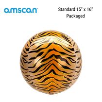 Tiger Print Orbz Foil Balloons