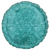 "Sequins Ocean Blue 18"" Round Foil Balloon"