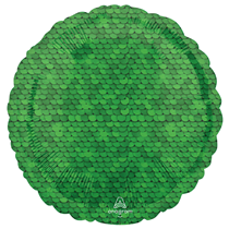 """Sequins Forest Green 18"""" Round Foil Balloon"""