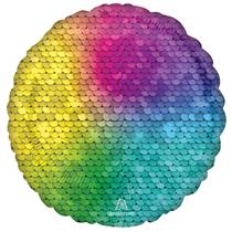 "Sequins Rainbow 18"" Round Foil Balloon"