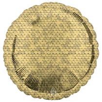 """Sequins Gold Glitter 18"""" Foil Balloon"""