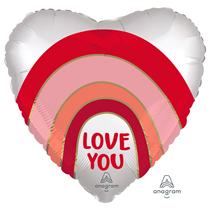 "Valentine's Love You Rainbow 18"" Foil Balloon"