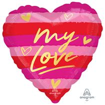 "Valentine's My Love 18"" Heart Foil Balloon"