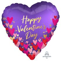 "Valentine's Hearts & Arrows 18"" Foil Balloon"