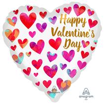 """Valentine's Painterly 18"""" Heart Foil Balloon"""