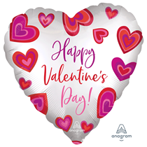 """Valentine's Floating Hearts 18"""" Foil Balloon"""