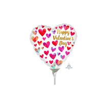Valentine's Painted Mini Shape Heart Foil Balloon