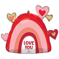 """Valentine's Rainbow Love 26"""" Foil Balloon"""
