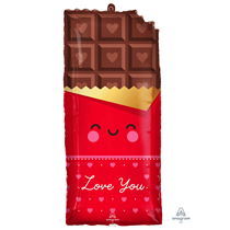 """Valentine's Chocolate Love You 28"""" Foil Balloon"""