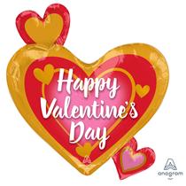 "Valentine's Hearts 22"" Foil Balloon"