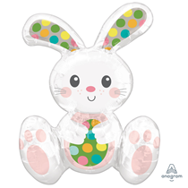 Easter Sitting Bunny Foil Balloon