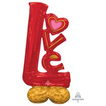 """Valentine's Love Airloonz 58"""" Foil Balloon"""