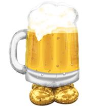 """Big Beer Mug 49"""" AirLoonz Foil Balloon"""