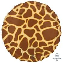 "Giraffe Animal Print 18"" Foil Balloon"
