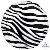 "Zebra Animal Print 18"" Foil Balloon"