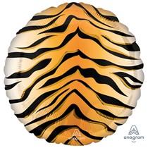 "Tiger Animal Print 18"" Foil Balloon"