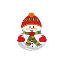 "Christmas Snowman 9"" Mini Shape Foil Balloon"