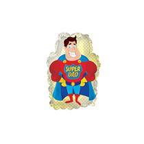 """Father's Day Super Dad 9"""" Mini Foil Balloon"""