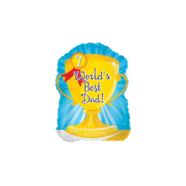 """Father's Day Worlds Best Dad 9"""" Mini Foil Balloon"""