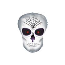 "Halloween Spider Skull 12"" Mini Shape Foil Balloon"