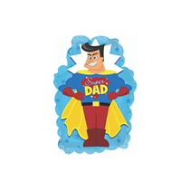 """Father's Day Super Dad 9"""" Blue Foil Balloon"""