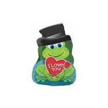 "Prince Charming Frog 10"" Mini Shape Foil Balloon"