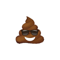 "Mini Poop Sunglasses Emoji 9"" Air Fill Foil Balloon"