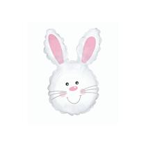 "White Rabbit 12"" Bunny Head Mini Foil Balloon"