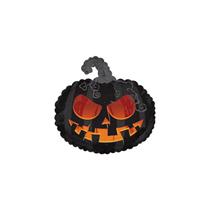 "Scary Black Pumpkin 11"" Mini Shape Foil Balloon"