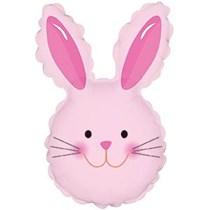 Pink Easter Rabbit Mini Air Fill Foil balloon