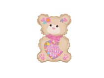 "Mother's Day Bear 12"" Mini Air Fill Foil Balloon"