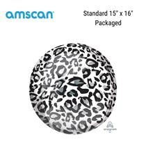 Snow Leopard Print Orbz Foil Balloon