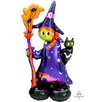"""Halloween Airloonz Witch 55"""" Foil Balloon"""