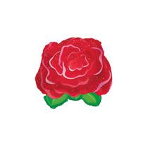 "Valentine's Red Rose 9"" Mini Foil Balloon"