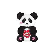 "Valentine I Love You Panda 12"" Mini Foil Balloon"