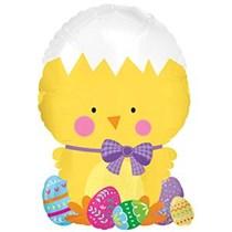 Easter Chick Colourful Easter Eggs Mini Foil Balloon