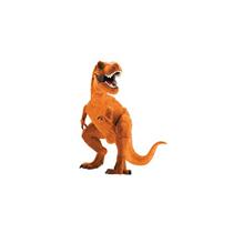 """Mini Orange Dinosaur 12"""" Air Fill Foil Balloon"""