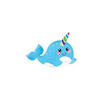 "Narwhal 10"" Mini Shape Foil Balloon (Loose)"