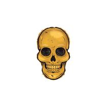 "Gold Skull 12"" Mini Shape Foil Balloon"