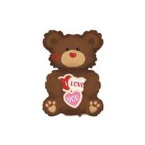 "Valentine's Day Cookie Bear 12"" Mini Foil Balloon"