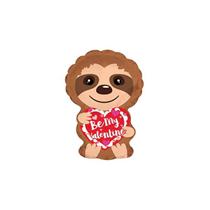 "Sloth Be My Valentine 10"" Mini Foil Balloon"