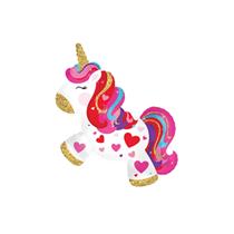 "Valentine's Unicorn 12"" Mini Shape Foil Balloon"