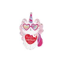 """Valentine's Caticorn 12"""" Mini Shape Foil Balloon"""