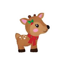 "Christmas Reindeer 12"" Mini Shape Foil Balloon"